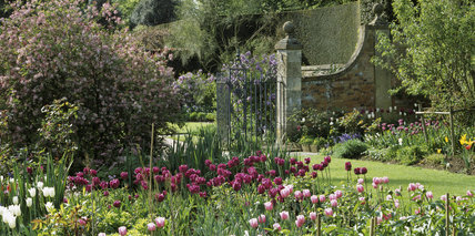 View from The Old Garden at Hidcote Manor in early May