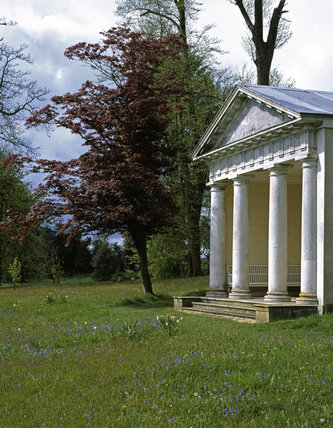 The Doric Temple at Petworth during summer