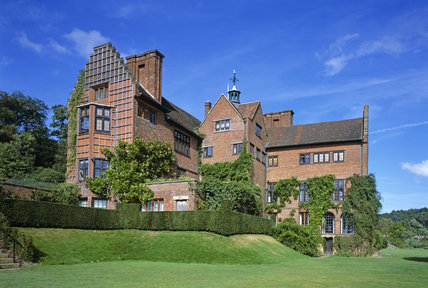 View of the house at Chartwell showing the South Front with the wooden trellis on one wall
