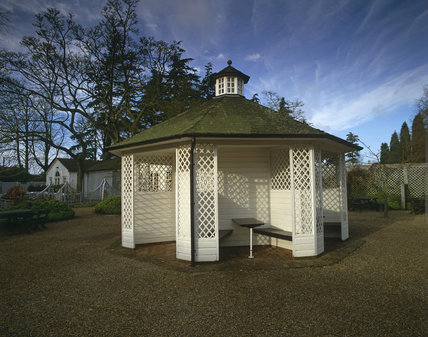 A Refreshment Pavilion in the grounds of Nymans Garden