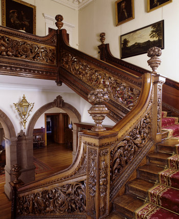 The Stair Hall Oak Staircase At Dunster Castle Installed