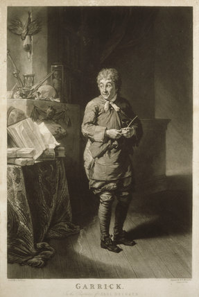 GARRICK AS THE ABEL DRUGGER IN