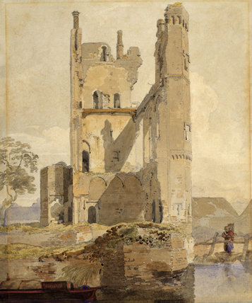 FASTAFF CASTLE, CAISTER, NEAR YARMOUTH by the circle of John Sell Cotman, a pencil and watercolour from the Miss Bailey's Watercolour Bequest at Peckover House