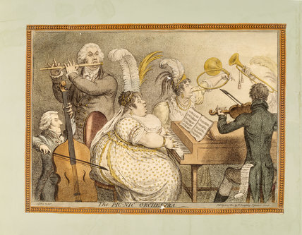 THE PICNIC ORCHESTRA, by Gillray, published in 1802
