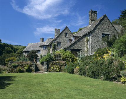 The House at Coleton Fishacre seen across the lawn