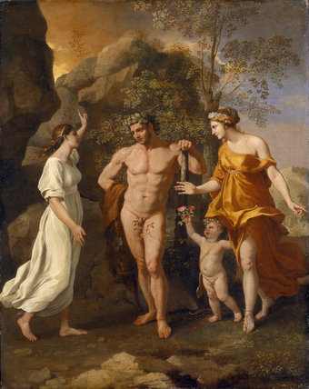 THE CHOICE OF HERCULES by Nicolas Poussin (1594-1665) from Stourhead House