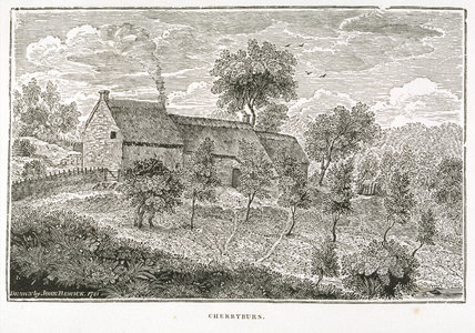 Frontispiece - Engraving of the house at Cherryburn: engraving by Thomas Bewick, part of the collection at Cherryburn