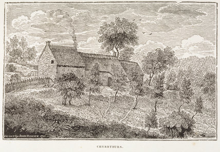 An engraving of Cherryburn in a memoir of Thomas Bewick