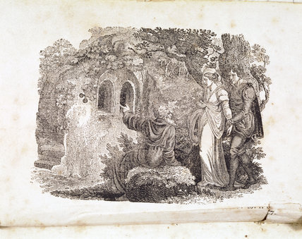 Thomas Percy, The Hermit of Warkworth (Schiller 183): engraving by Thomas Bewick, part of the collection at Cherryburn