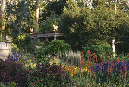 A view of the Italian Garden looking towards the Do Do Terrace at Mount Stewart Garden