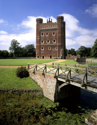 The east front of the Great Tower seen from the bridge across the Inner Moat