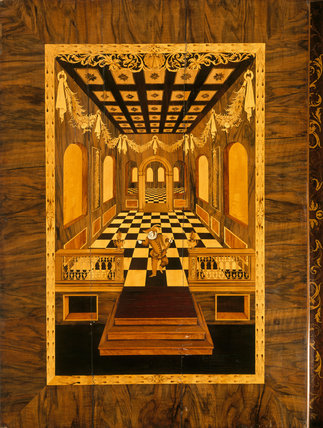Marquetry panel from the Cabinet in the Brown Drawing Room at Blickling Hall