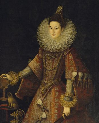 CLARA ISABELLA EUGENIA, ARCHDUCHESS OF AUSTRIA (1566-1633) By Juan Pantoja de la Cruz in Little Dining Room at Petworth