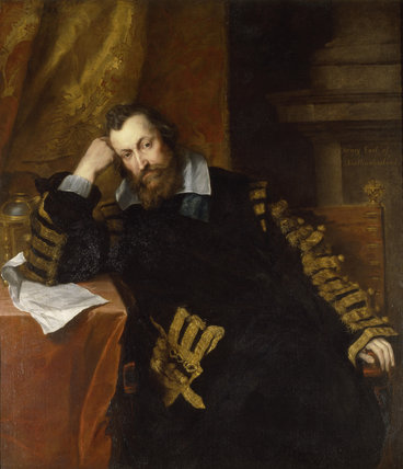HENRY PERCY, 9TH EARL OF NORTHUMBERLAND (1564-1632) by Sir  Anthony Van Dyck (1599-1641)