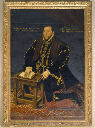 THOMAS PERCY, 7TH EARL OF NORTHUMBERLAND (1528-1572) by English School (1566)
