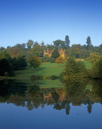 A view of Chartwell, the home of Sir Winston Churchill, taken from across the lake in the early autumn