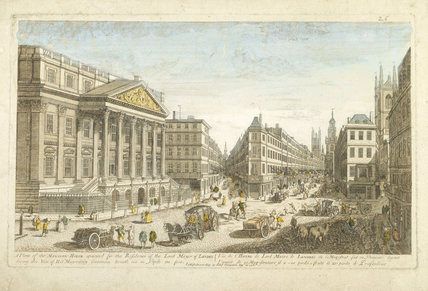 A VIEW OF THE MANSION HOUSE 1751 (appointed for the residence of the Lord Mayor of London)