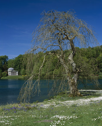Looking across the lake, towards the Pantheon, in Stourhead