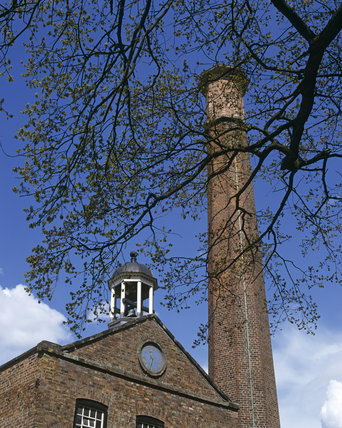 The Bell Tower and chimney at Quarry Bank Mill