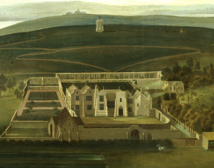PANORAMIC VIEW OF CLEVEDON COURT by P.Tillemans on the Stairs & Landing at Clevedon Court.
