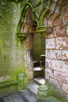 Details from the twelfth century Fountains Abbey, Yorkshire