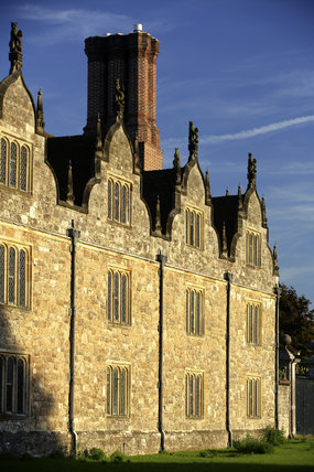 The west front of Knole built between 1543 and 1548 by Henry VIII, at Sevenoaks, Kent
