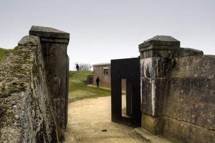 The main gates at Reigate Fort, Surrey