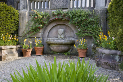 The fountain in Mrs Bateman's Garden, at Biddulph Grange Garden, Staffordshire