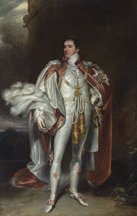 THE HON. SIR ARTHUR PAGET, GCB, PC (1771-1840) by John Hoppner RA (1758-1810), c.1804, painting in the Music Room at Plas Newydd, Anglesey.