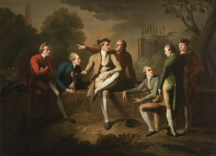 The Ham House Roman Conversation Piece, Attributed to John Brown (1749-1787)