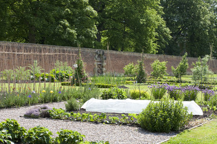 The Walled Garden which covers 4 acres at Gibside, Newcastle upon Tyne