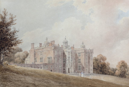 BEAUDESERT IN STAFFORDSHIRE, home of William, 1st Baron Paget, by an unknown English artist, c.1810, painting on the Middle Landing at Plas Newydd, Anglesey.