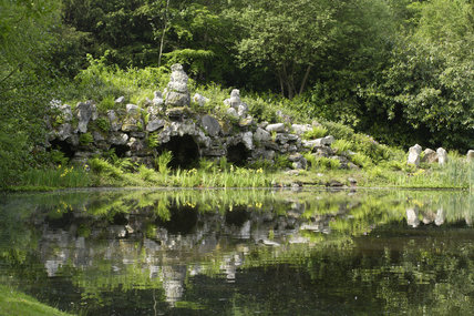 The Grotto built in 1750 at Claremont Landscape Garden, Esher, Surrey
