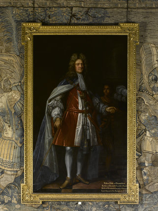 WILLIAM CAVENDISH, 1ST DUKE OF DEVONSHIRE, 4TH EARL OF DEVONSHIRE (1640-1707) appointed Lord High Steward by William of Orange, attrib. John Closterman (1660-1711) at Hardwick Hall, Derbyshire.