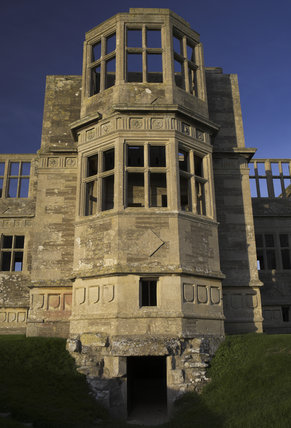 The south wing entrance of Lyveden New Bield near Oundle, Northamptonshire