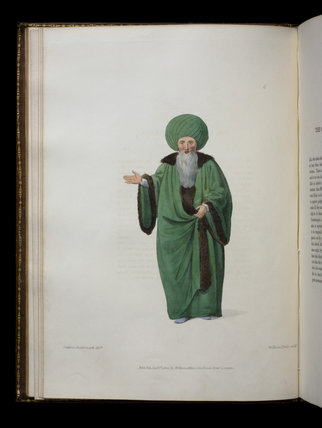 An engraved  illustration from The Costumes of Turkey, a volume at Castle Ward, Co. Down, Northern Ireland.