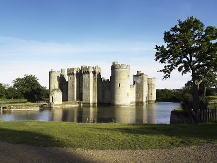 Bodiam Castle, East Sussex, built between 1385 and 1388