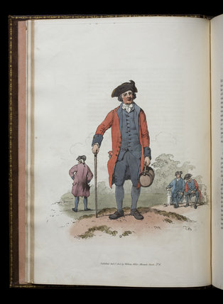 Illustration from The Costume of Great Britain, at Castle Ward, Co. Down, Northern Ireland.
