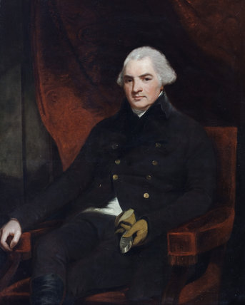 HENRY BAYLY, (LATER PAGET) 9TH BARON PAGET OF BEAUDESERT, 1ST EARL OF UXBRIDGE, (1744-1812) by George Romney, (1734-1802)  painting in the Music Room at Plas Newydd, Anglesey