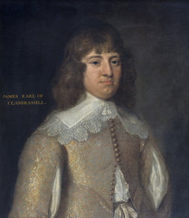 JAMES, EARL OF CLANBRASSIL, in the manner of Dobson, a framed and inscribed oil painting