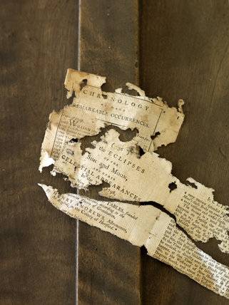 Fragments of paper from 1798 -