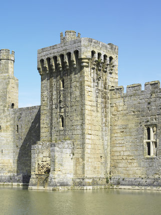 The Postern Tower on the South Range at Bodiam Castle, East Sussex, built between 1385 and 1388