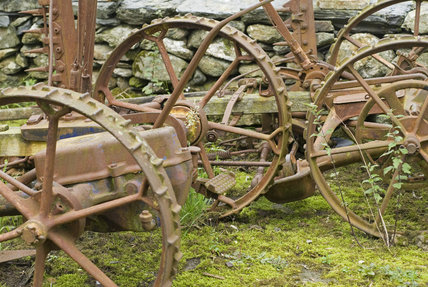 Farm machinery on Hafod Y Llan farm, Snowdonia