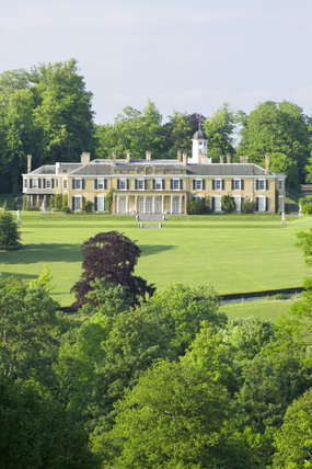 The south front of Polesden Lacey, near Dorking, Surrey, a Regency house in a beautiful setting on the North Downs