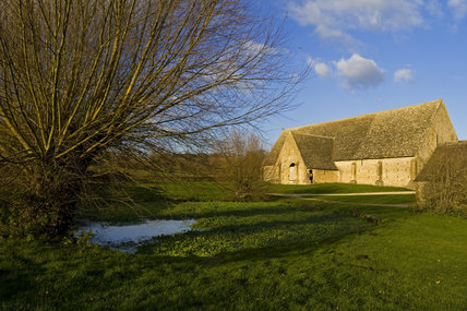 The mid-thirteenth century monastic Great Coxwell Barn near Faringdon in Oxfordshire