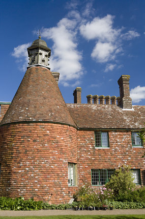 Oasthouse at Bateman's, the Jacobean house that was the home of Rudyard Kipling from 1902 to 1936, at Burwash, East Sussex