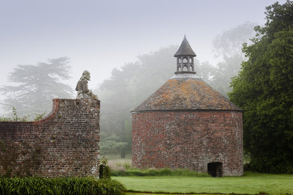 The eighteenth-century dovecote in the garden at Antony, Cornwall