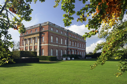 Garden or east front at Clandon Park, Guildford, Surrey, built around 1731 by Italian architect Giacomo Leoni