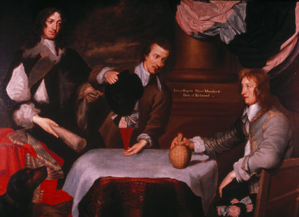 Prince Rupert, Colonel William Murray and Colonel John Russell by William Dobson at Ashdown House. Credit line : Ashdown House, The Craven Collection (acquired by H.M. Treasury and transferred to The National Trust in 19