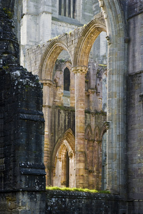 Arched window recesses at Fountains Abbey, North Yorkshire